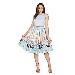Lindy Bop - Blue Audrey Venice gondola swing dress