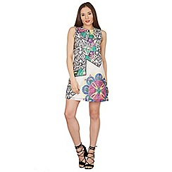 Blue Vanilla - Multicoloured printed lace dress with star placement