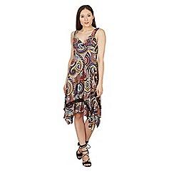 Izabel London - Multicoloured abstract print swing dress