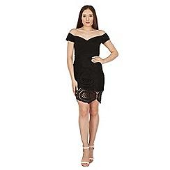 Izabel London - Black sweetheart lace bardot dress