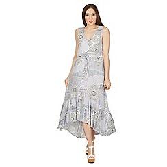 Izabel London - Blue sleeveless paisley print dress