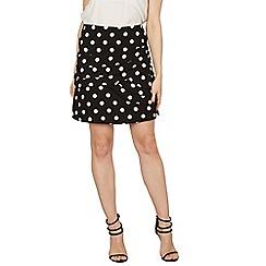 Stella Morgan - Black polka dot mini skirt