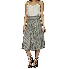 Izabel London - Black abstract print skirt