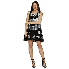 Izabel London - Black frilled swing dress