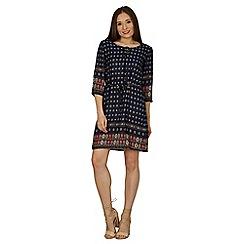 Izabel London - Multicoloured full sleeves shift dress