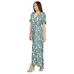 Izabel London - Multicoloured floral print wrap maxi dress