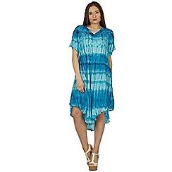 Izabel London - Blue multi colour shift dress
