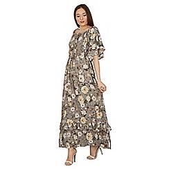 Stella Morgan - Grey floral print maxi dress
