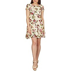 Tenki - Cream floral lace skater dress