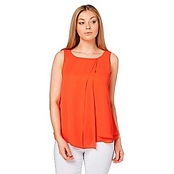 Roman Originals - Orange double layer wrap front top