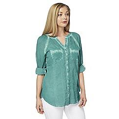 Roman Originals - Aqua patch pocket blouse
