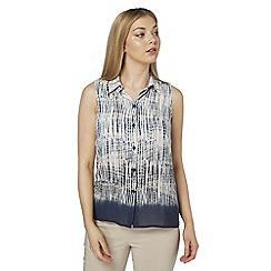 Roman Originals - Blue tye dye sleeveless blouse