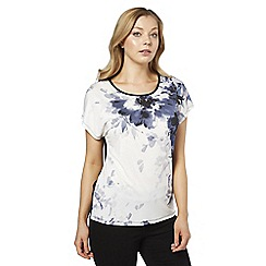 Roman Originals - Ivory floral placement t-shirt