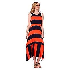 Roman Originals - Orange  stripe dress