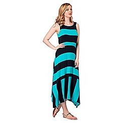 Roman Originals - Turquoise orange stripe dress