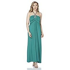 Roman Originals - Aqua trim detail maxi dress