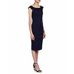 Jolie Moi - Navy scoop neckline wiggle dress