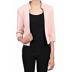 Jolie Moi - Light pink 3/4 sleeves open front blazer