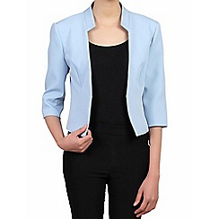 Jolie Moi - Blue 3/4 sleeves open front blazer