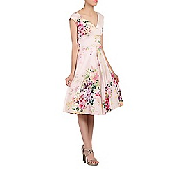 Jolie Moi - Pink floral print 50s fit & flare dress