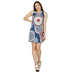 Izabel London - Multicoloured circle print shift dress