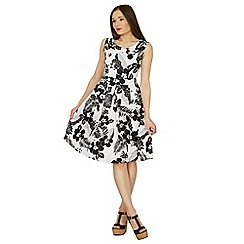 Izabel London - Multicoloured floral print fit & flare dress