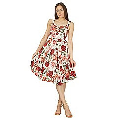 Izabel London - Multicoloured floral sleeveless swing dress