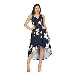 Stella Morgan - Navy floral print fit & flare dress