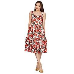 Stella Morgan - Red floral print fit & flare dress