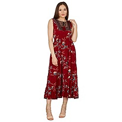 Stella Morgan - Dark red sleeveless maxi dress