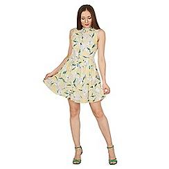 Cutie - Yellow floral print summer dress