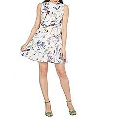 Cutie - White bird print dress