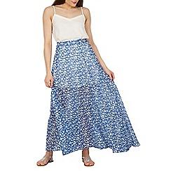 Cutie - Blue printed maxi skirt