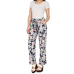 Izabel London - Navy alibaba floral pants