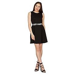 Izabel London - Black striped waist skater dress