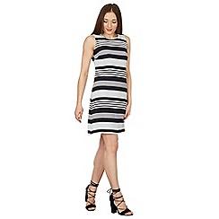 Izabel London - Navy striped shift dress