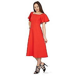 Izabel London - Red flare sleeve off the shoulder dress