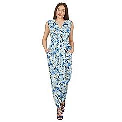 Izabel London - Blue floral print maxi dress