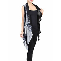 Jolie Moi - Black layered asymmetric gilet