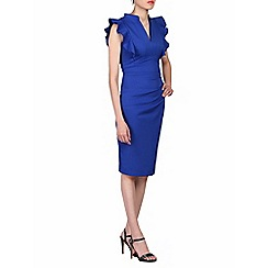 Jolie Moi - Royal frill shoulder detail dress