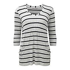 Lavitta - Grey stripe pocket detail top