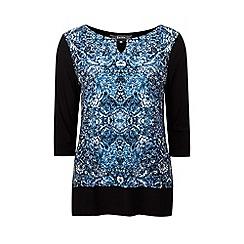 Lavitta - Blue floral tile border tunic
