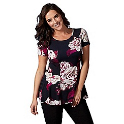 Lavitta - Wine autumn rose peplum top