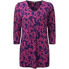 Lavitta - Purple shadow trailing floral pocket tunic top