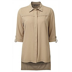 Lavitta - Camel crepe georgette long shirt
