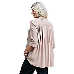 Lavitta - Camel crepe georgette pleat back shirt