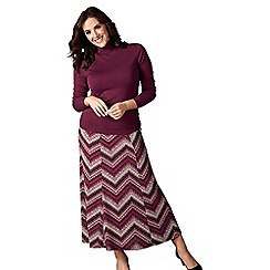 Lavitta - Multicoloured jewel print maxi skirt
