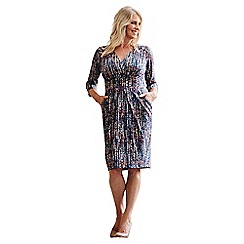 Lavitta - Blue trailing spot wrap dress