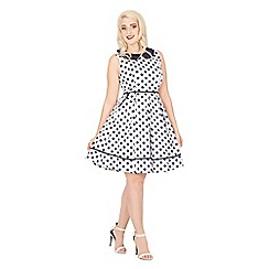 Lindy Bop - Blue molly sue polka dot day dress