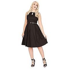 Lindy Bop - Black lily swing dress